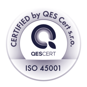Certified by QES Cert. s.r.o. ISO 45001